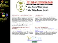 The Duke of Edinburgh´s Award Gold Award Society home page (c) 1995